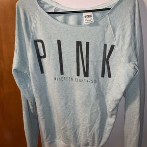 PINK Off The Shoulder Sweater